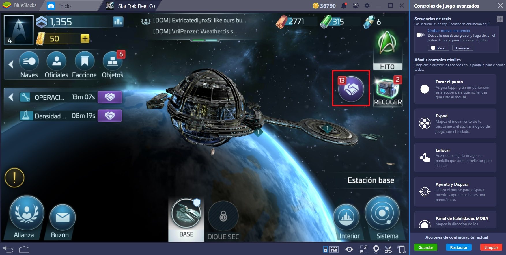 Conquista el Cuadrante en Star Trek Fleet Command con BlueStacks 4