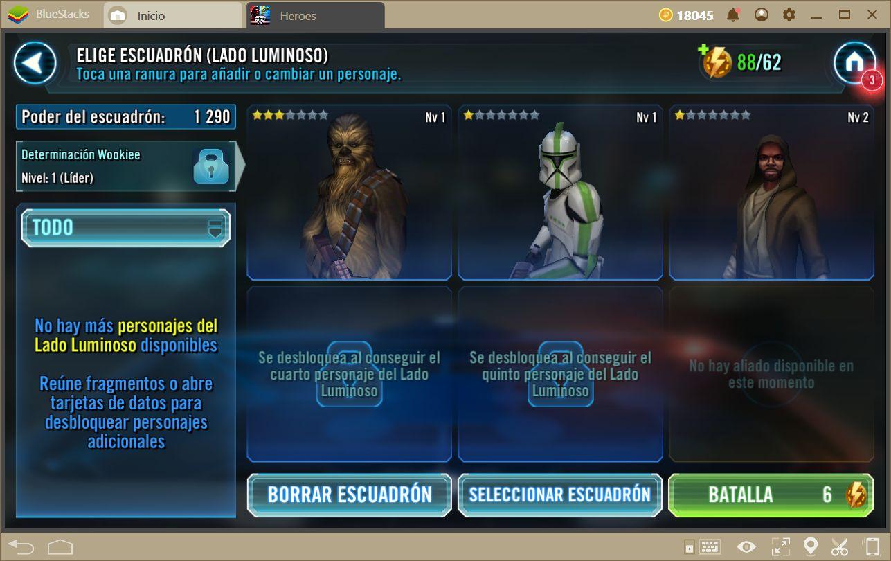 Guía Para Principiantes en Star Wars: Galaxy of Heroes