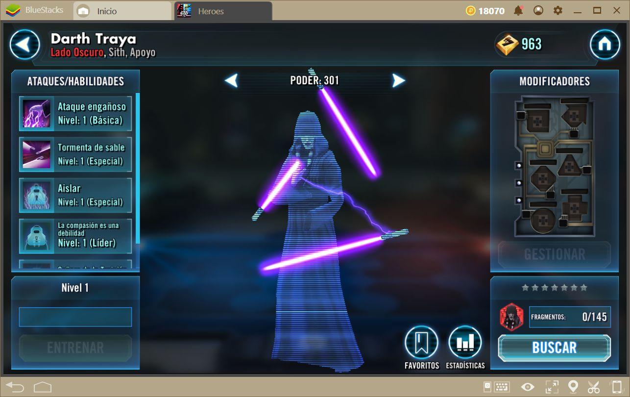 Los 5 Mejores Líderes en Star Wars: Galaxy of Heroes
