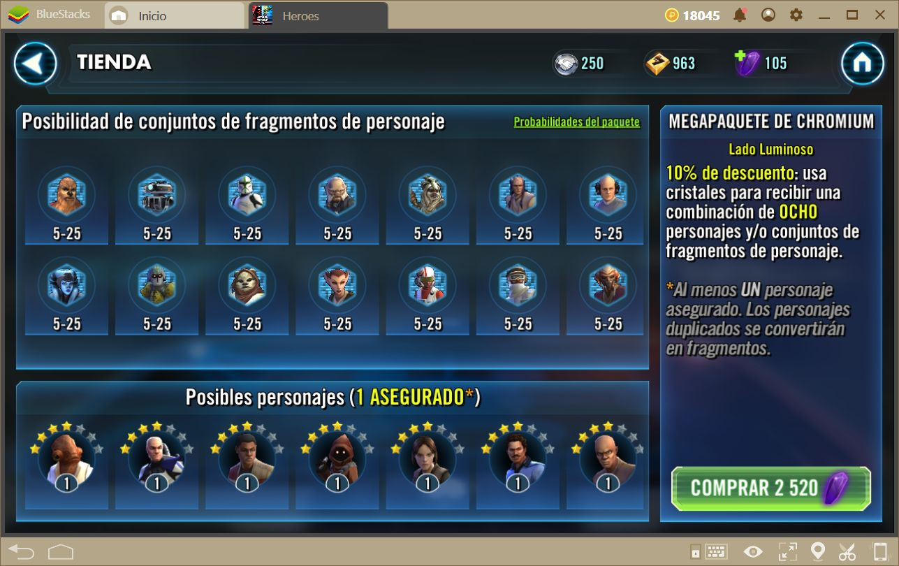Guía de Combate Para Star Wars: Galaxy of Heroes