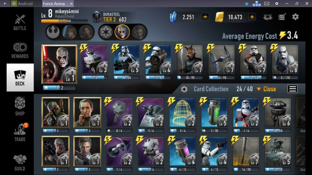 Star Wars: Force Arena - Imperial Deck Strategy