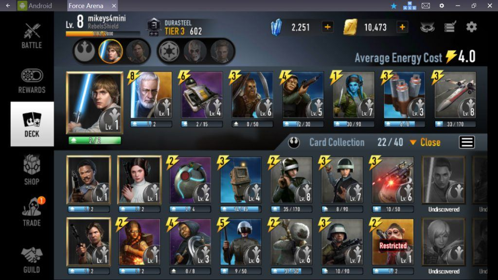Star Wars: Force Arena - Rebel Deck Strategy