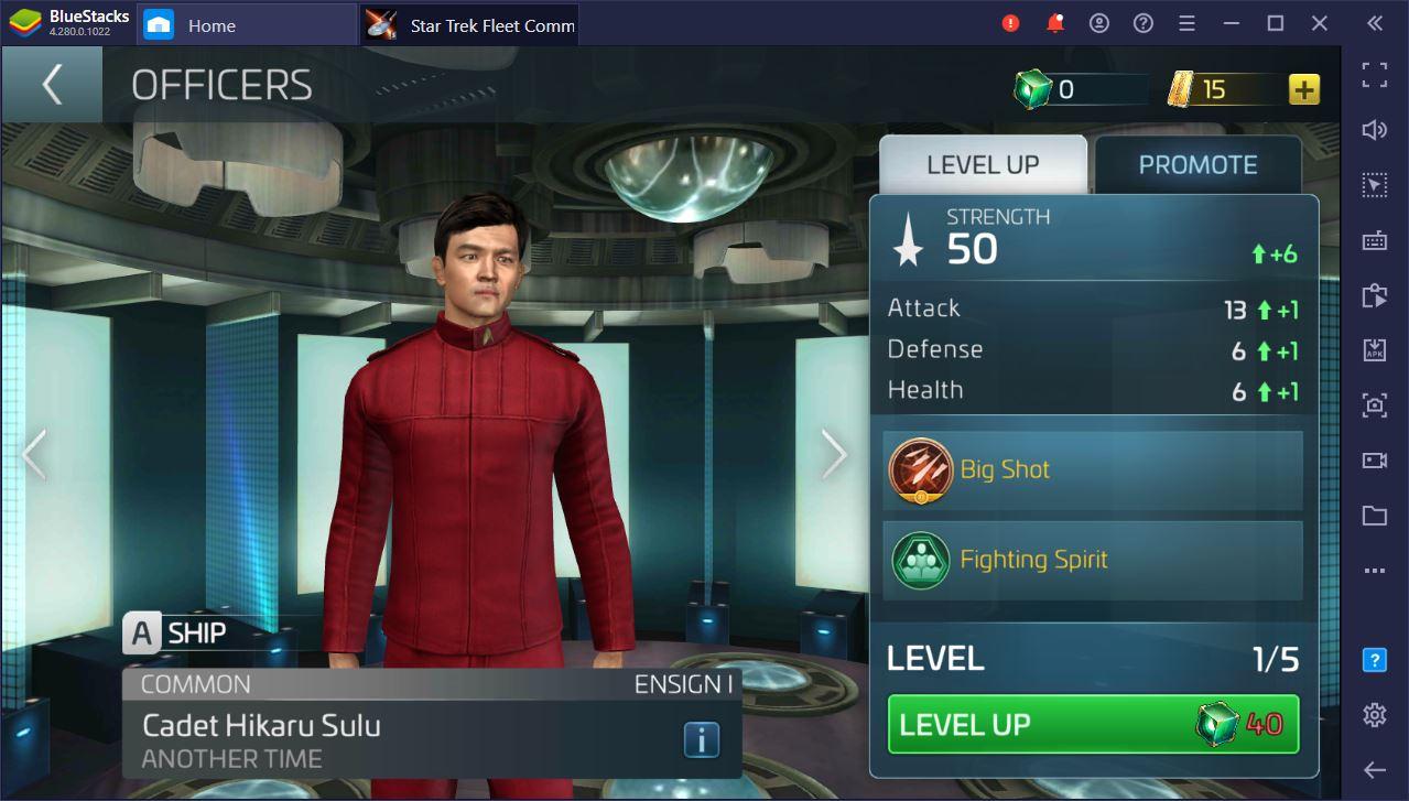 Guia completo de oficiais do Star Trek Fleet Command