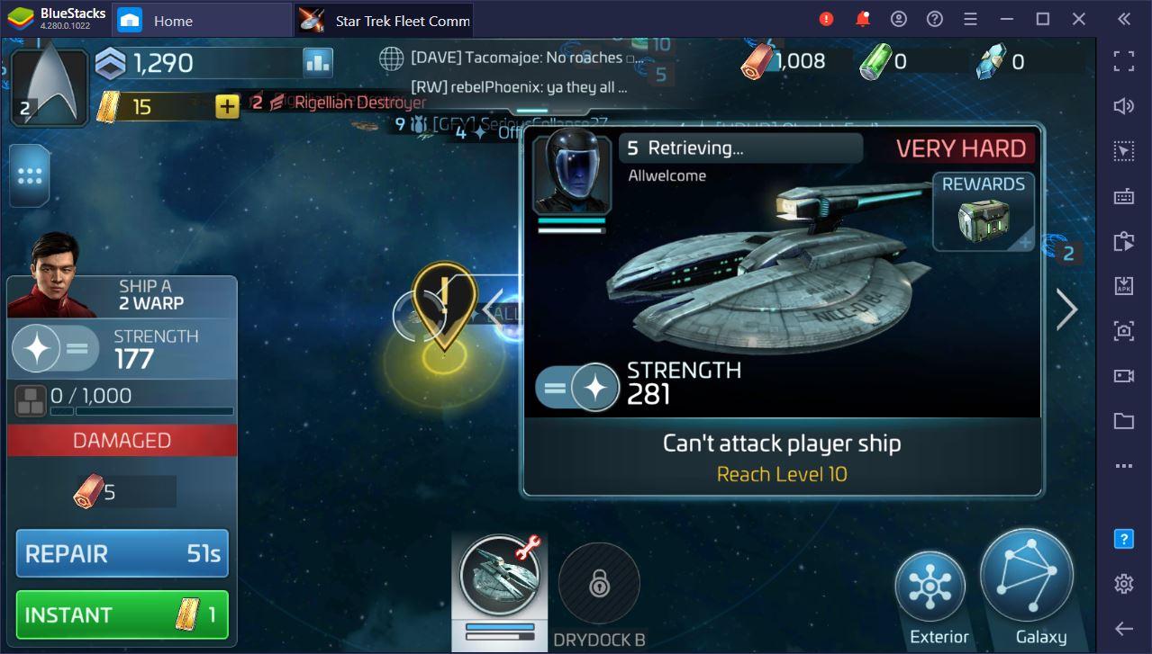 Guia para farmar da forma mais eficiente possível no Star Trek Fleet Command