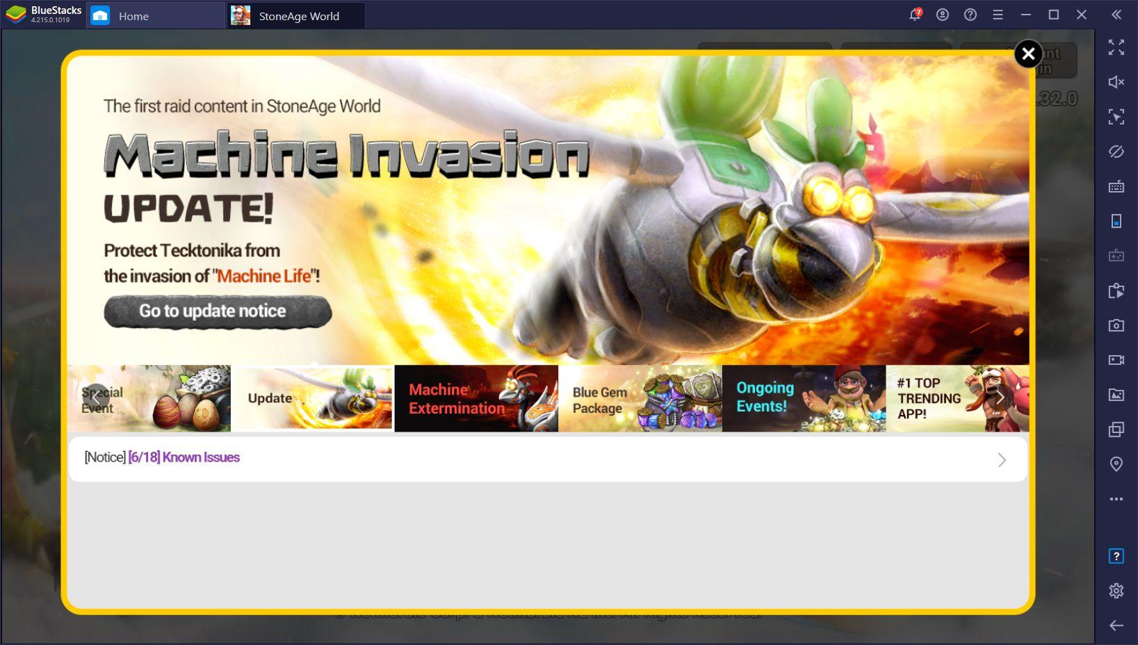 Actualización de Machine Invasion de StoneAge World Trae Nuevas Mascotas y Eventos al Popular MMORPG