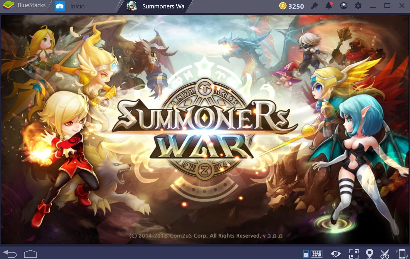 Guia para iniciantes em Summoners War