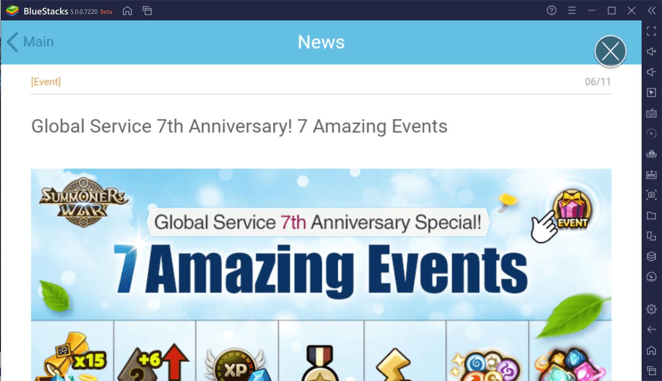Summoners War – 7 Amazing Events