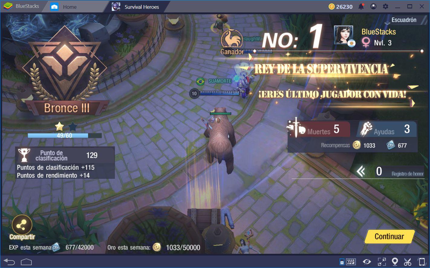 Estrategias Para Llegar al Top 10 Consistentemente en Survival Heroes