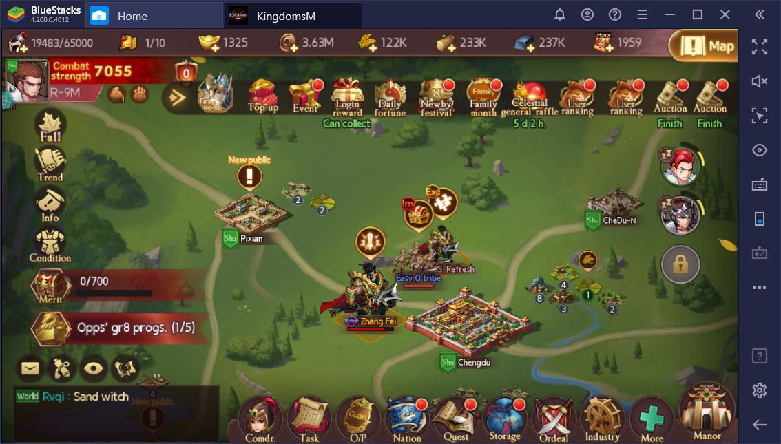 Play Three Kingdoms M on Your PC with BlueStacks