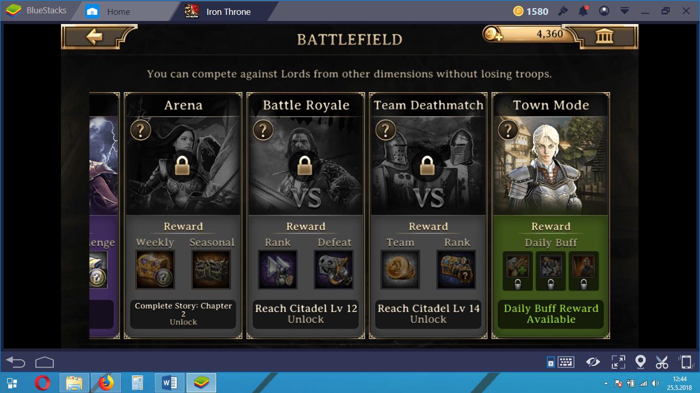 Iron Throne Town Mode Guide