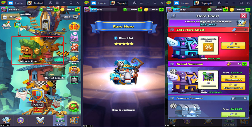 Upgrade Guide – How to empower your favorite hero in Tap Tap Heroes