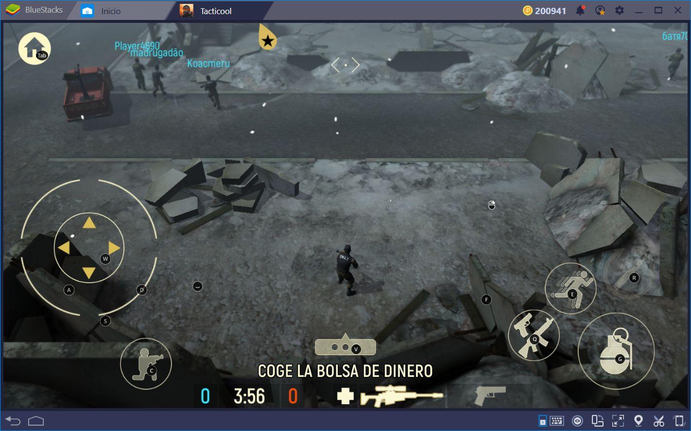 Destruye la Competencia en Tacticool con BlueStacks y el Asignador de Teclas