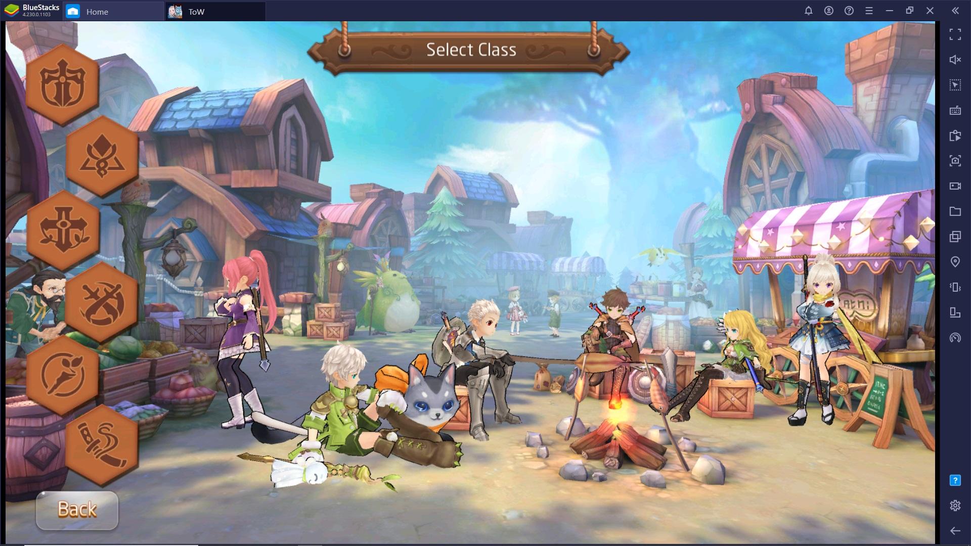 La scelta della classe in Tales of Wind – Come iniziare l'avventura