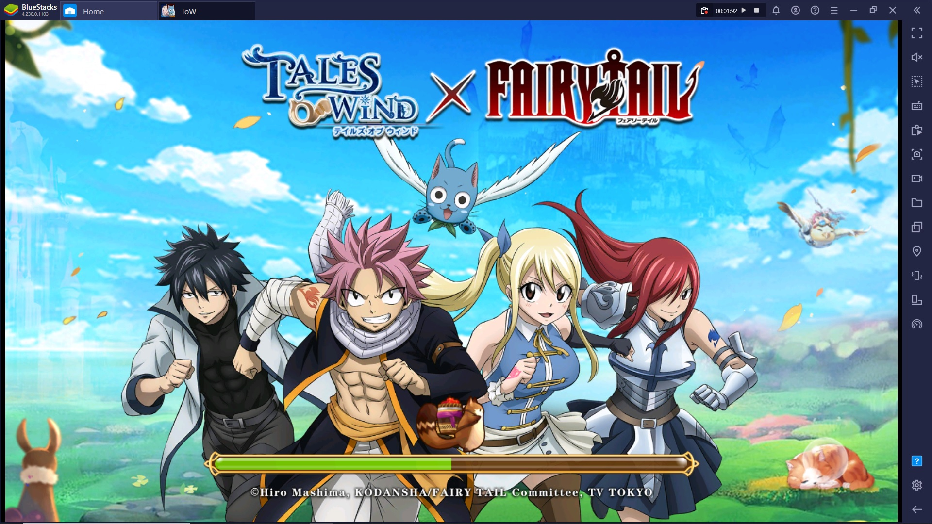 Gioca su Bluestacks Tales of Wind, ora in collaborazione con Fairy Tail