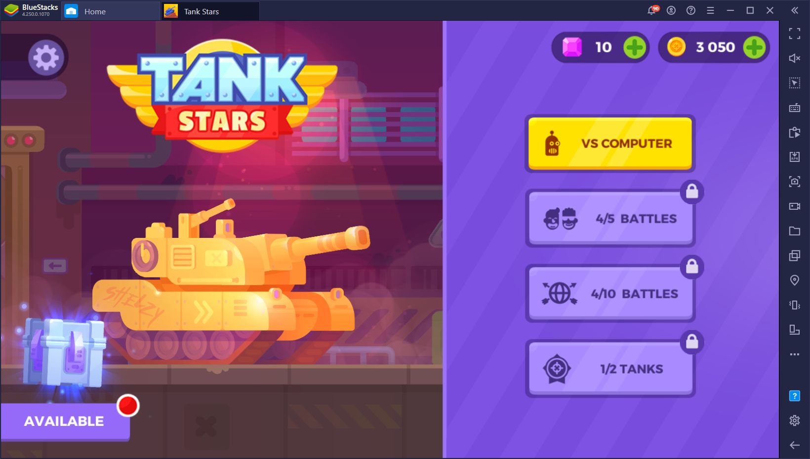How to Play Tank Stars on PC with BlueStacks