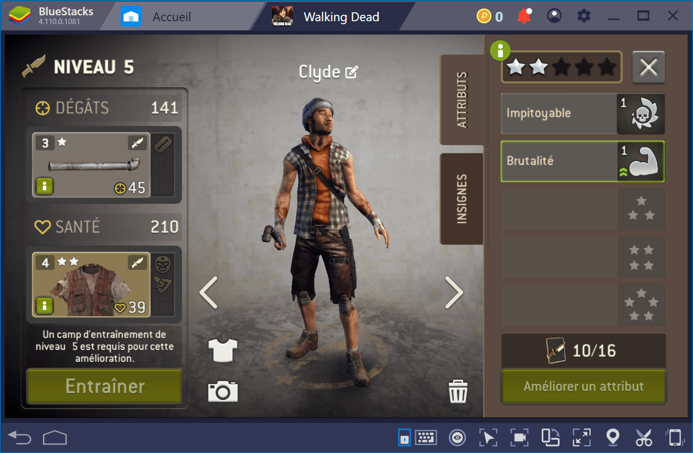 The Walking Dead No Man's Land : Guide sur les combats et la construction