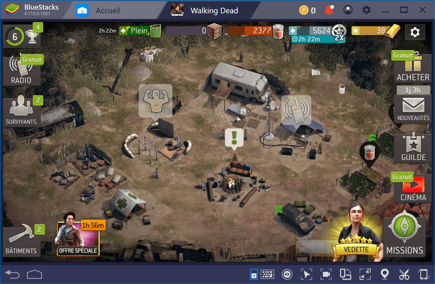The Walking Dead No Man's Land – Préparer son équipe et tuer les rôdeurs