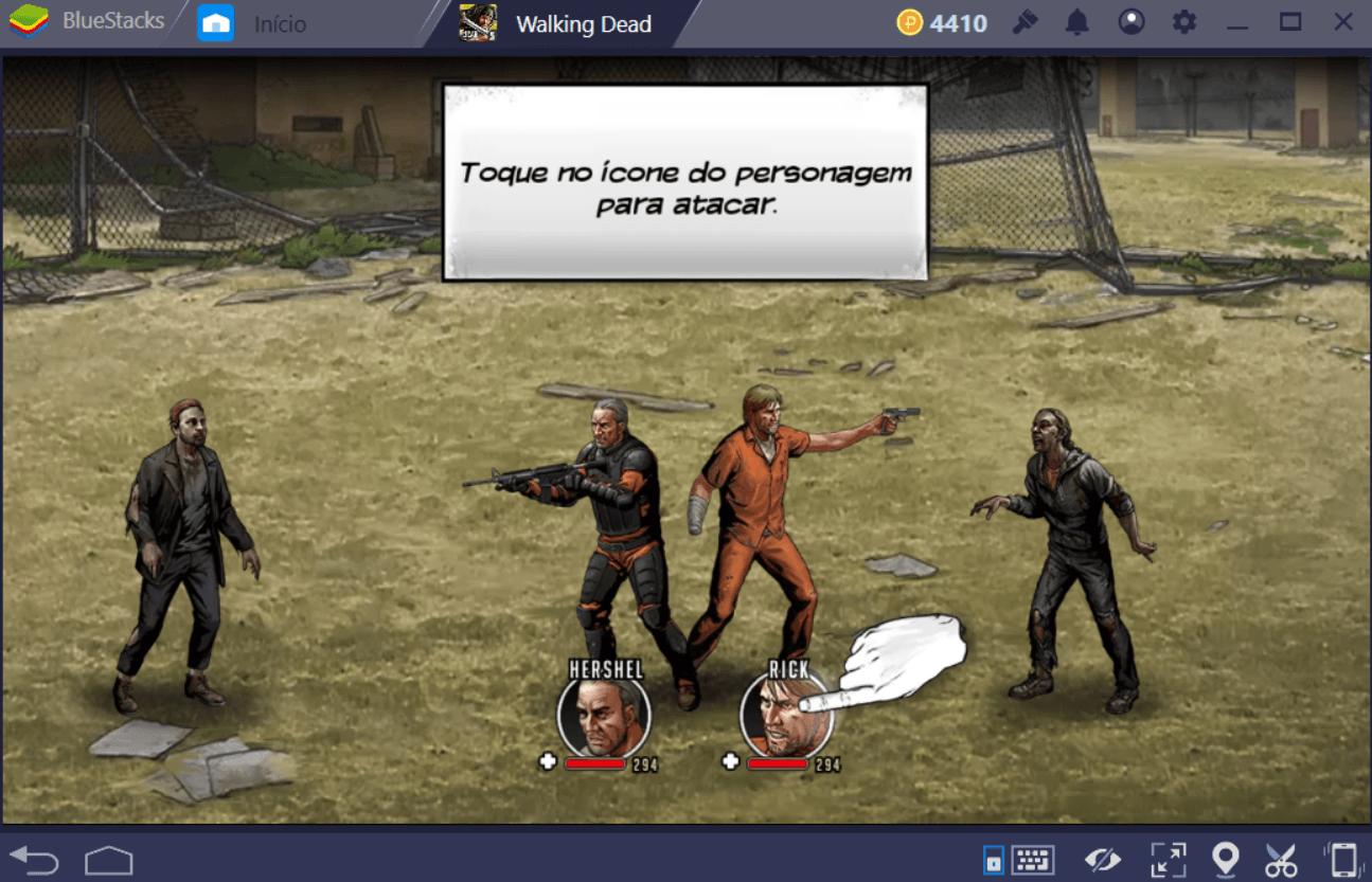 Guia de combate em Walking Dead: Sobrevivência