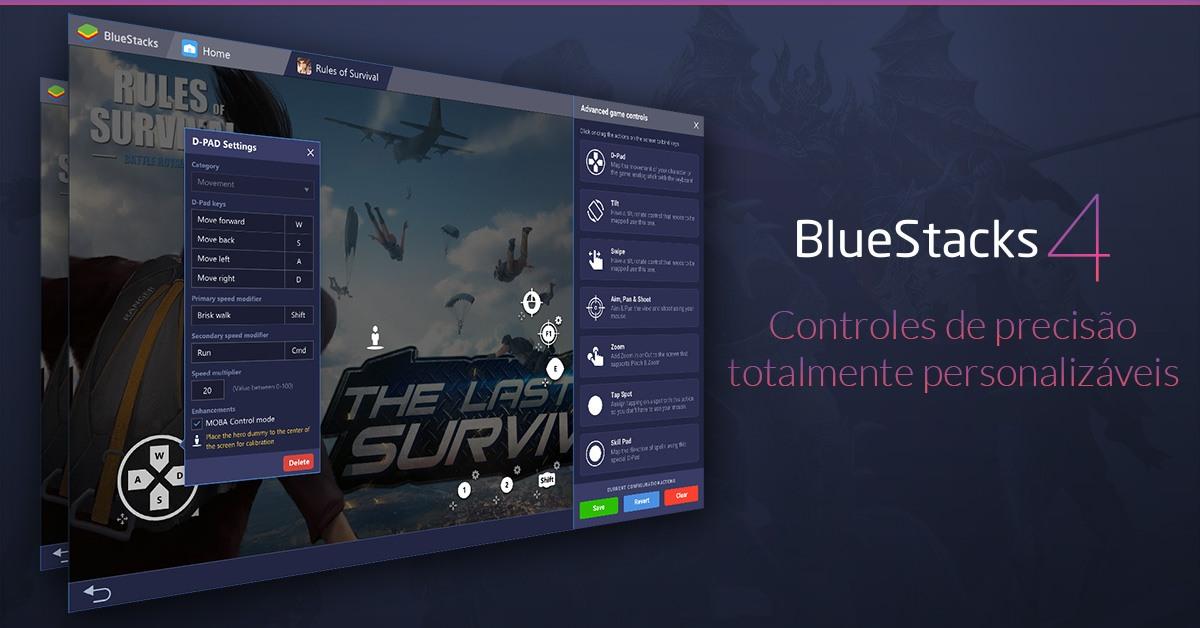 O novo e melhorado mapeamento de teclas de BlueStacks 4