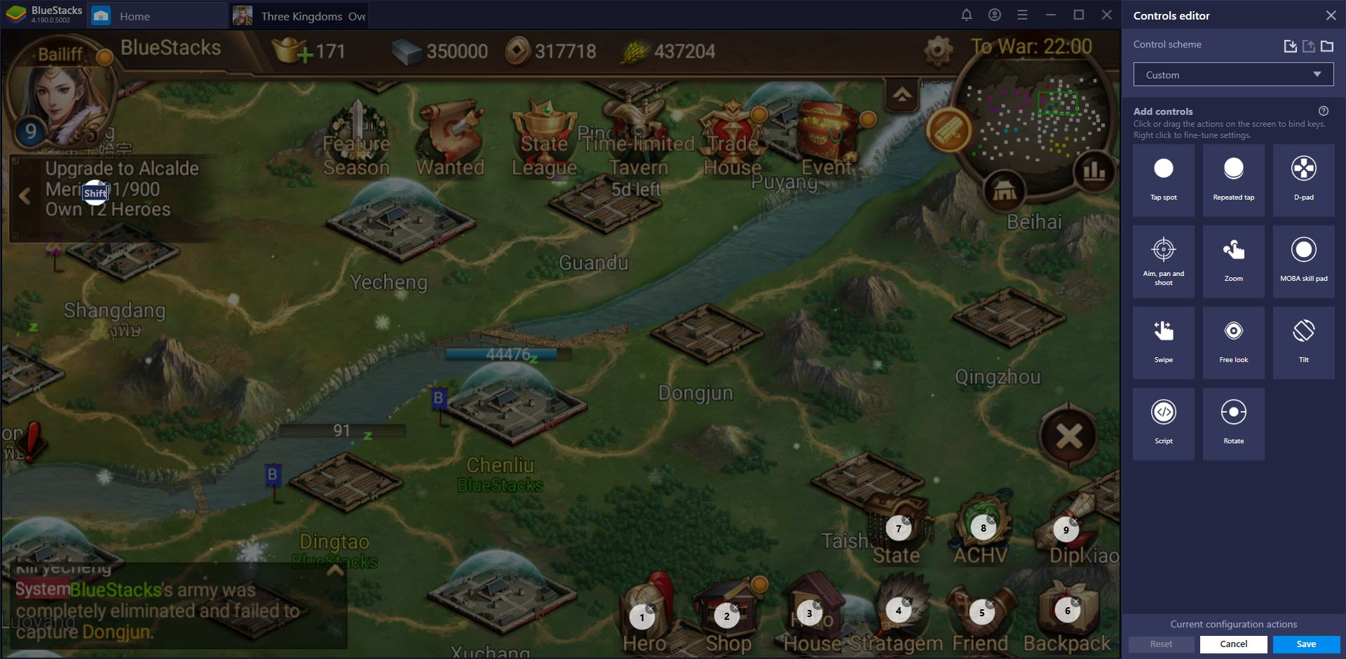 Three Kingdoms: Overlord - Tips and Tricks for Playing on BlueStacks