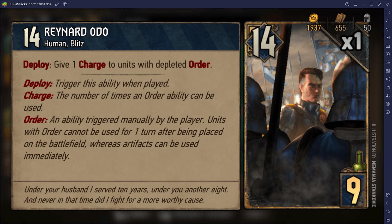 لعبة The Witcher Tales: Thronebreaker – كيفية بناء المجموعات والفوز بالمعارك