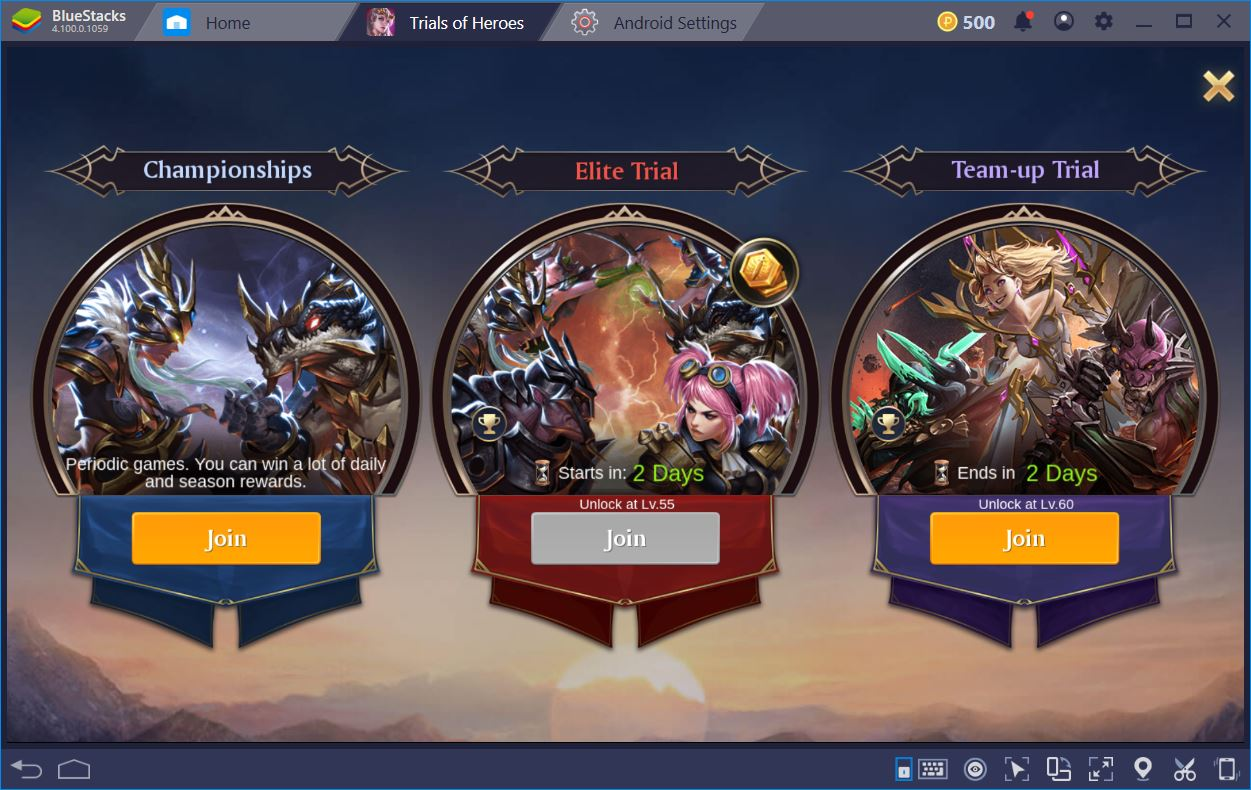 Trials of Heroes: Idle RPG – Guide to Playing on BlueStacks