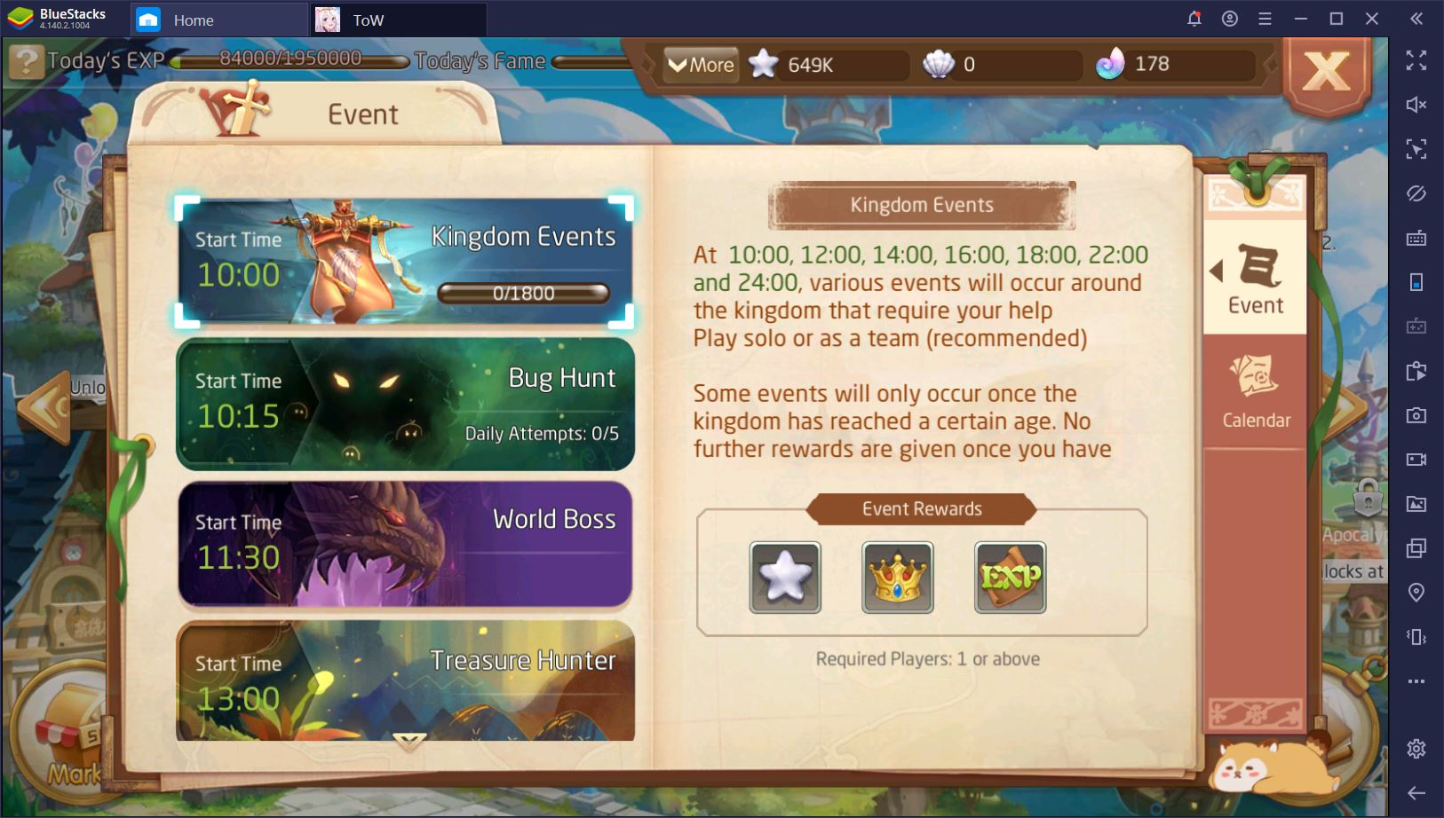 Tales of Wind: Daily To-Do List for the F2P Player