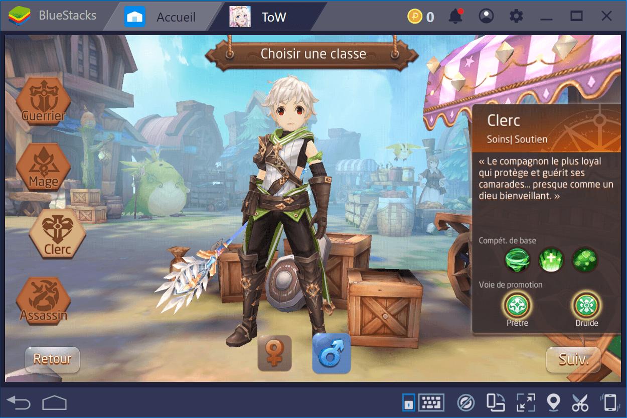Comment bien choisir sa classe dans Tales of Wind
