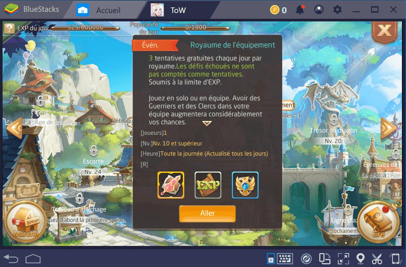 Le meilleur moyen de monter en niveau dans Tales of Wind