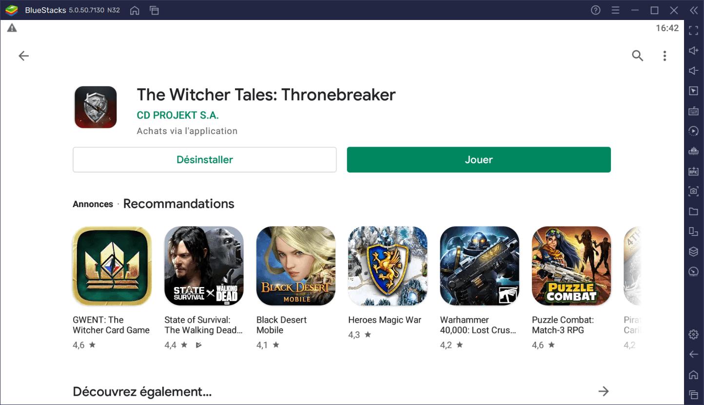 Comment jouer à The Witcher Tales – Thronebreaker sur PC gratuitement