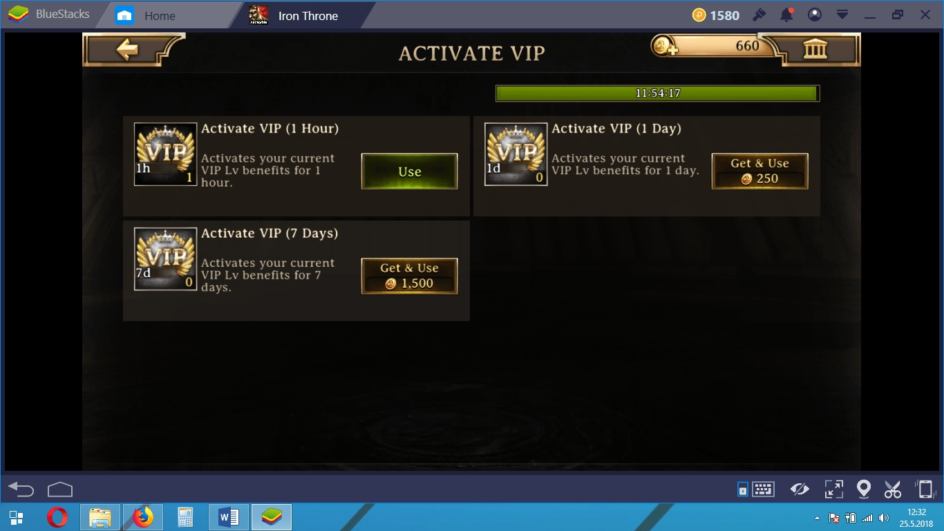 Iron Throne Gold and VIP Guide