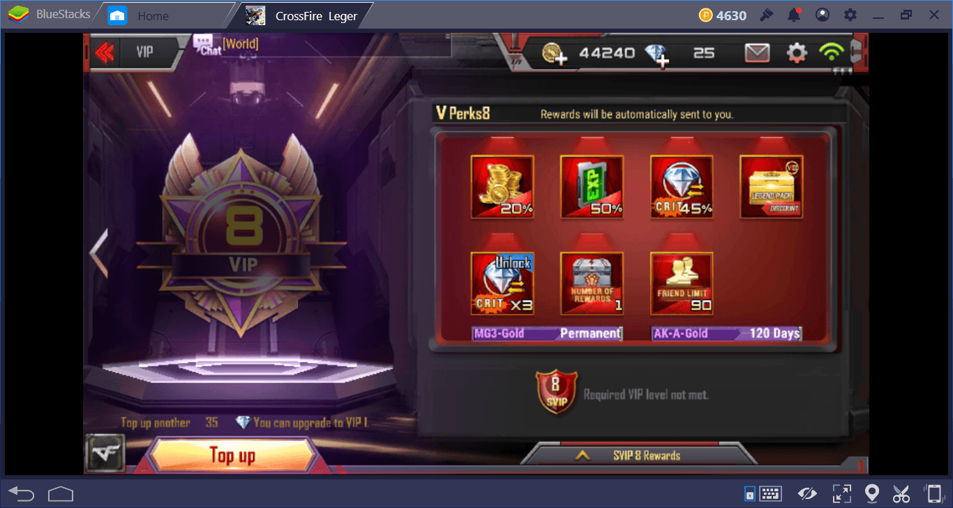 Crossfire Legends VVIP and VIP Guide