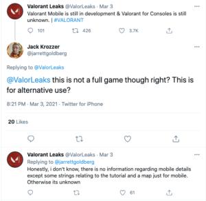 Eine Mobile Version von Valorant ist noch in Entwicklung; Geleakte Screenshots Tauchen Auf