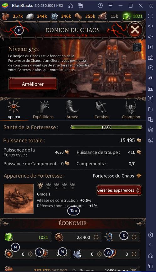 Les Bonnes Bases d'une Forteresse Réussie dans Warhammer: Chaos & Conquest