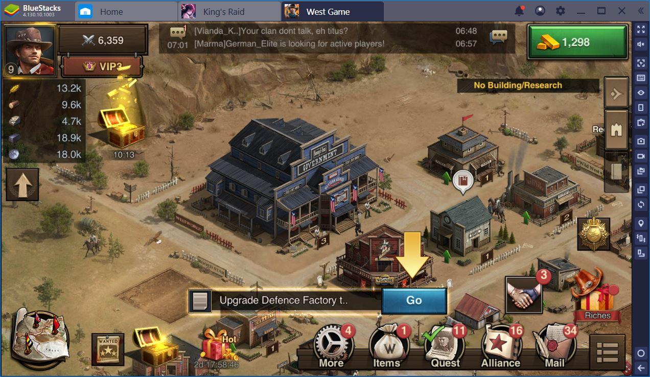 West Game auf dem PC: Wie Du Dein Stadtzentrum Schnell Wachsen Lässt