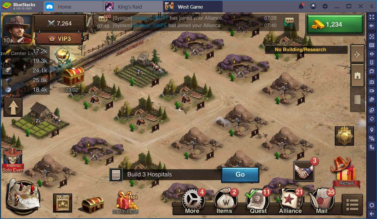 West Game: How to Grow Your Town Center Fast