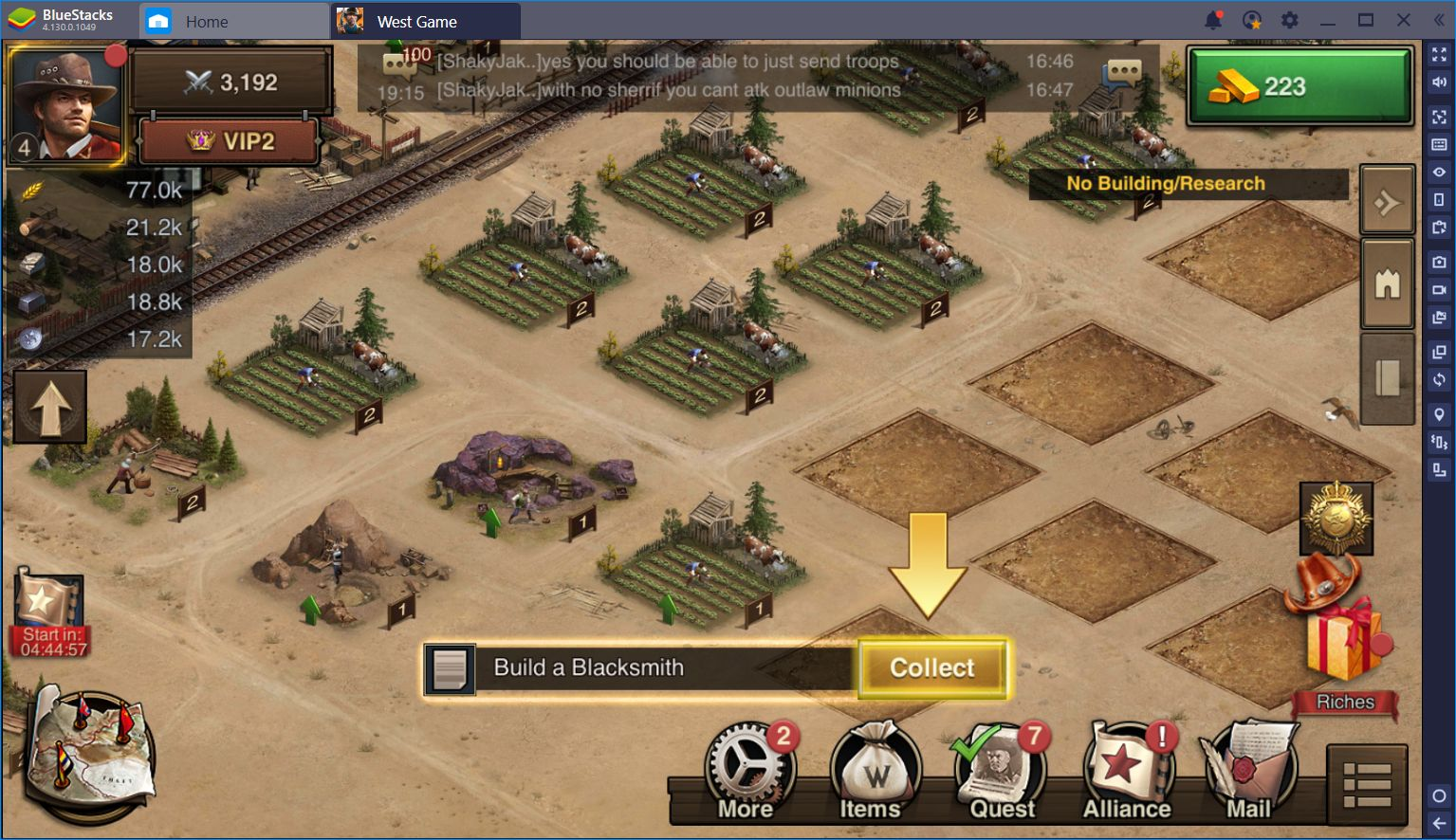 BlueStacks Anleitung für West Game: Keymapping Domination