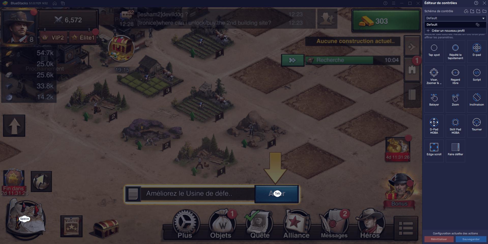 Guide BlueStacks pour West Game : Dominer Grâce à la Configuration des Touches