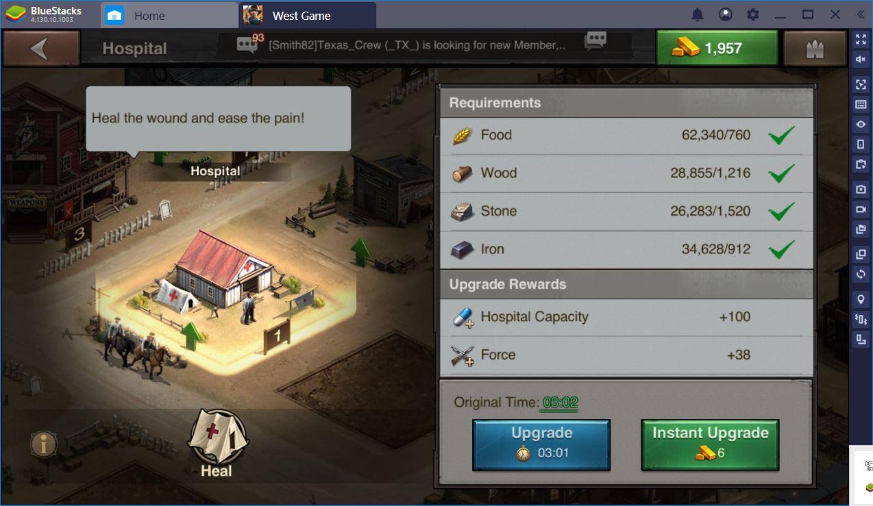 West Game auf dem PC – Lasse dich in der stärksten Stadt nieder