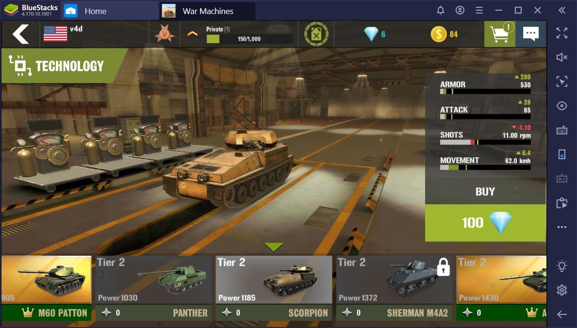 The Best Tanks in War Machines: Tank Battle