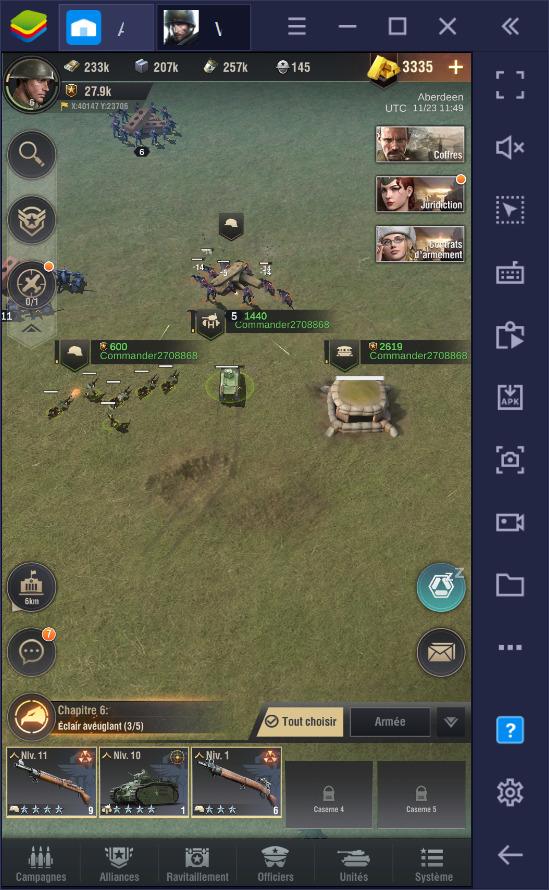 Warpath sur PC – guide pour débutants sur la gestion de la base et la formation des troupes