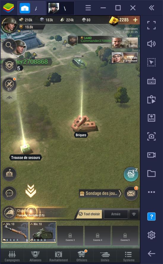 Warpath – trucs, astuces codes et stratégie pour gérer votre camp et remporter vos batailles