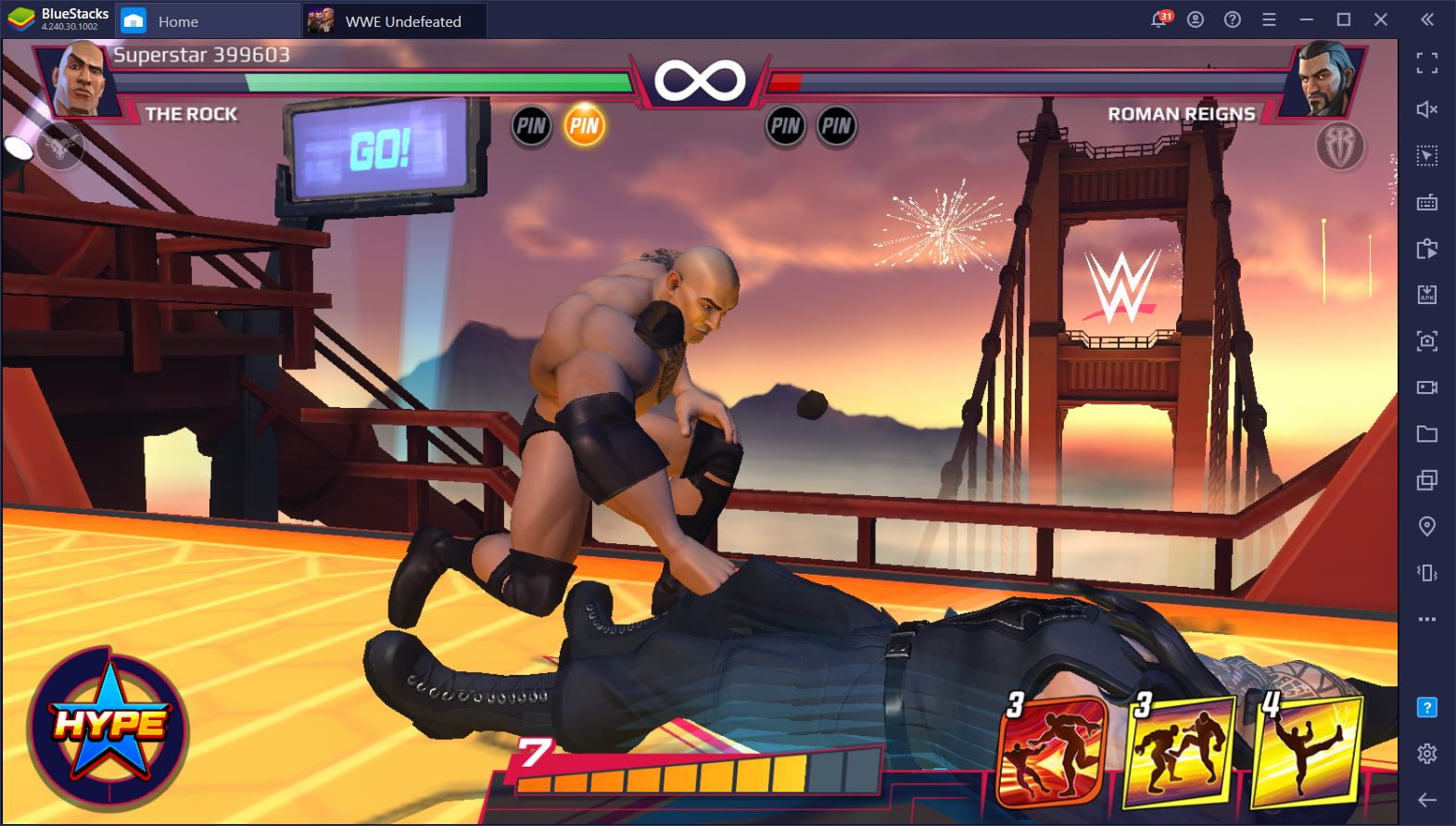 WWE Undefeated Just Released and You Can Play it on PC With BlueStacks