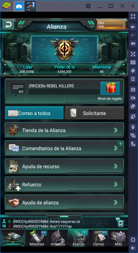 Cómo Optimizar en War Games con BlueStacks