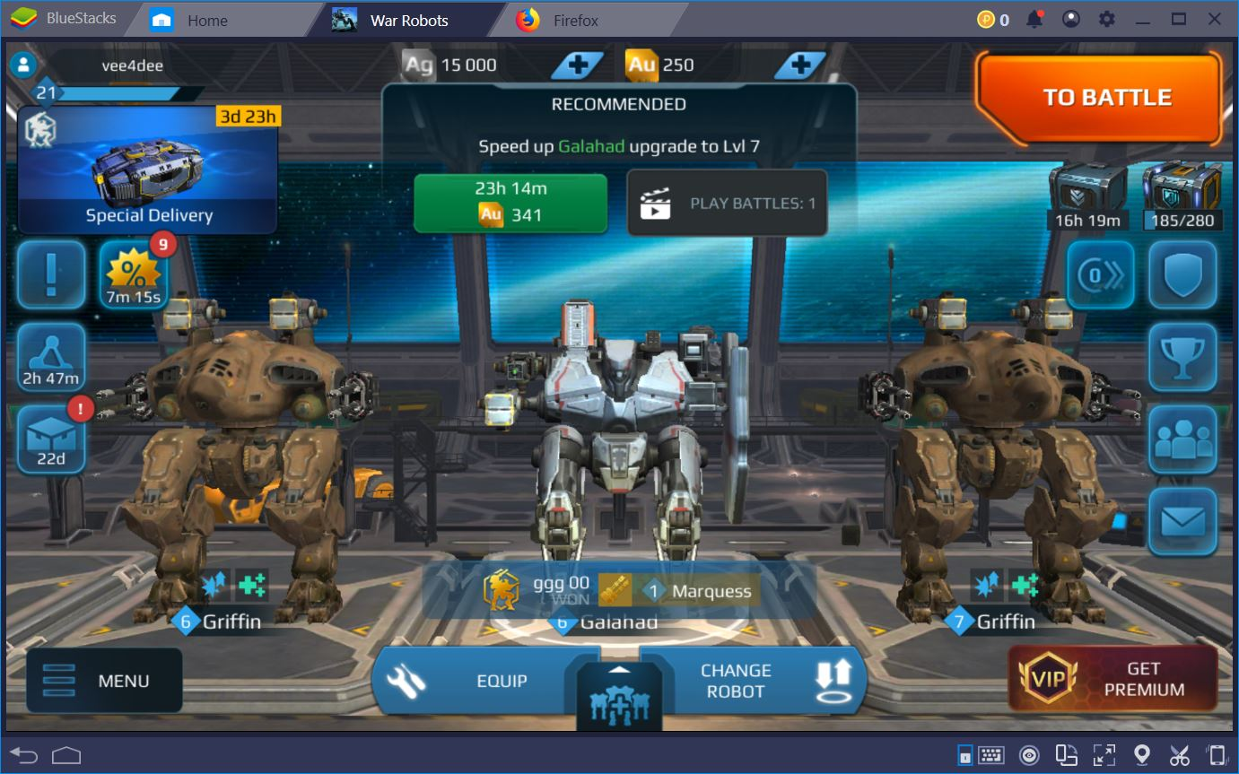 War Robots: روبوتات الطبقة المبتدئة والمتوسطة