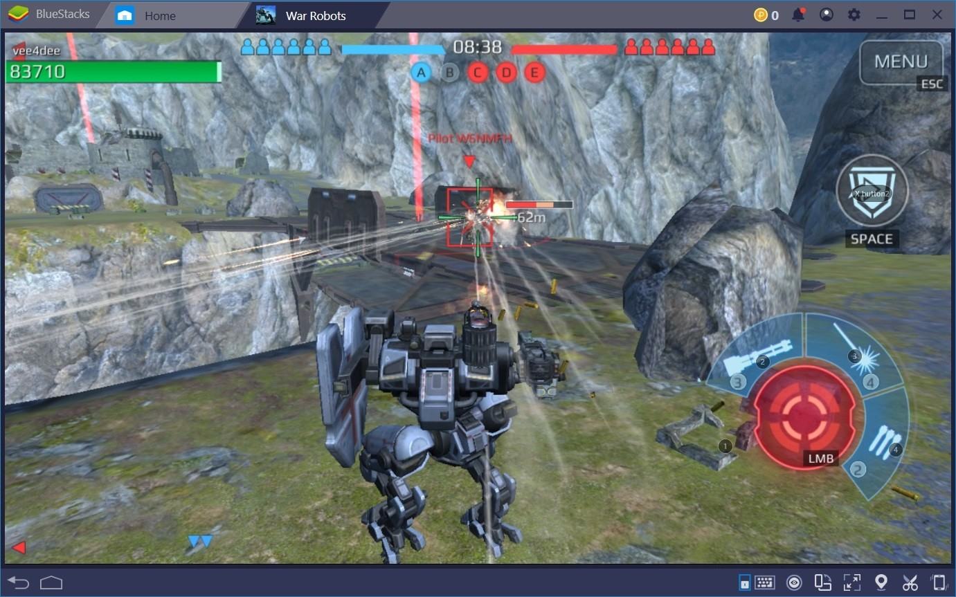 دليل للعب War Robots على BlueStacks