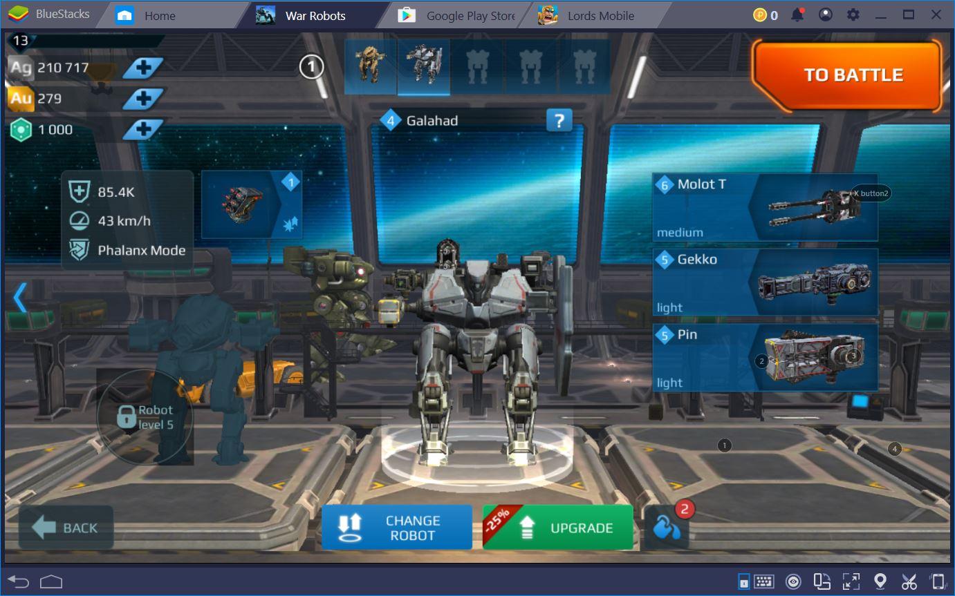 دليل للعب War Robots على BlueStacks
