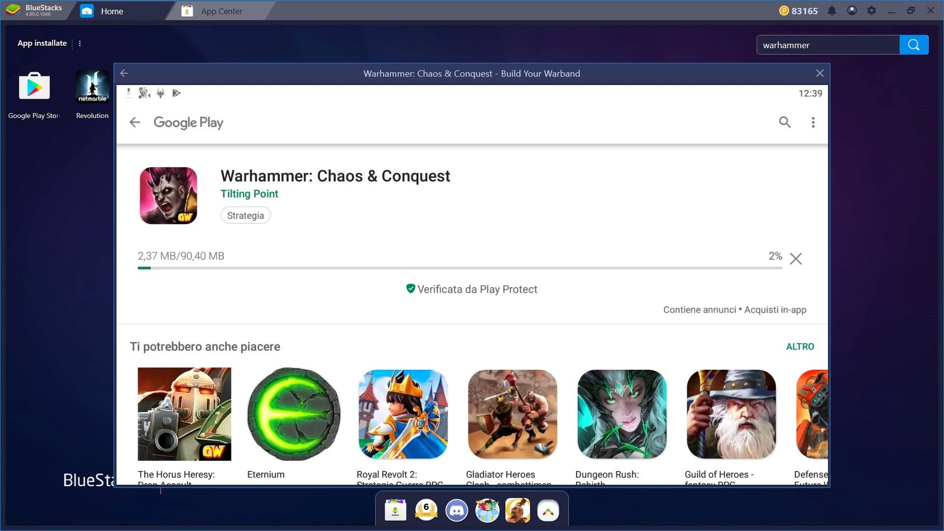 Gioca Warhammer Chaos & Conquest con Bluestacks 4