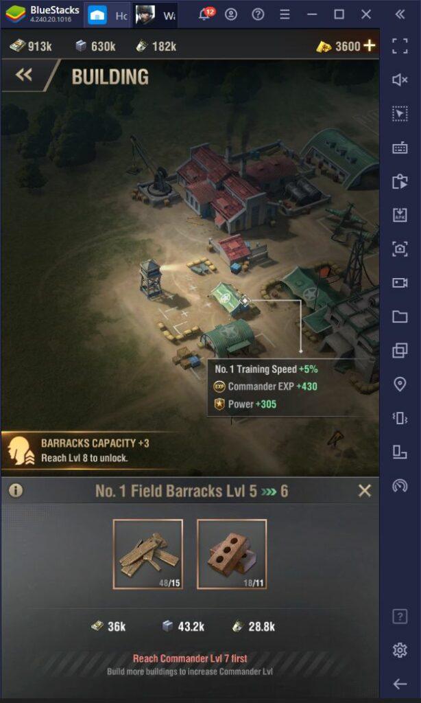لعبة Warpath – دليل المبتدئين لبناء المعسكر وتدريب الجيش