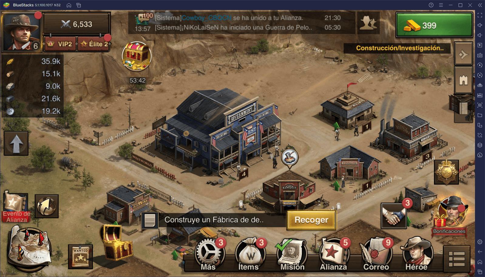 West Game en PC – Cómo Crecer Rápidamente tu Centro de la Ciudad